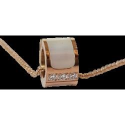 Collier pendentif anneau or...