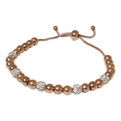 Bracelet en perles rose et...
