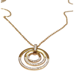 Collier or pendentif cercle...