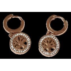 Boucles d'oreilles or rose...